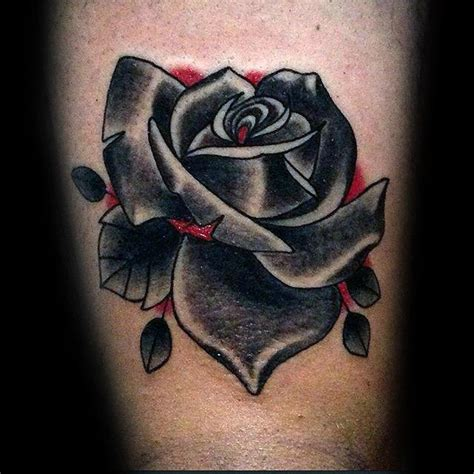 red and black rose tattoos 80 black designs for ink ideas