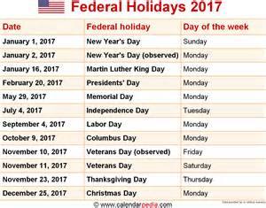 Download federal holidays 2017 as graphic image file