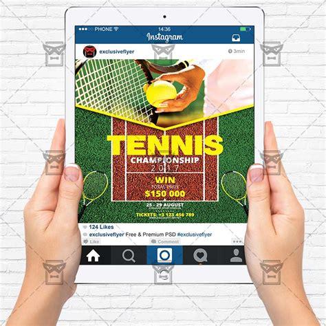 Tennis Tournament Flyer Templates tennis chionship sport a5 flyer template