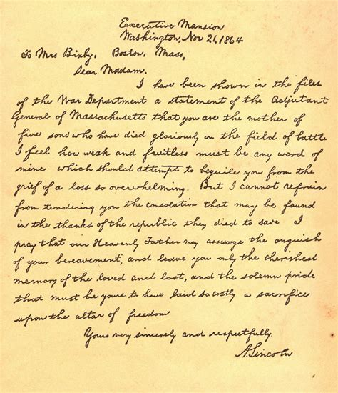 abraham lincoln letter to the casey artandcolour on this day november 21 1864