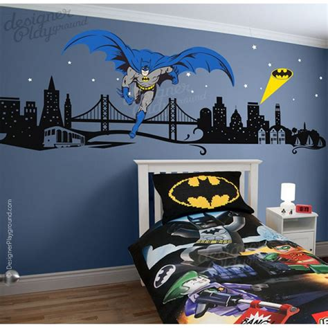 cityscape wall stickers batman with cityscape wall decal