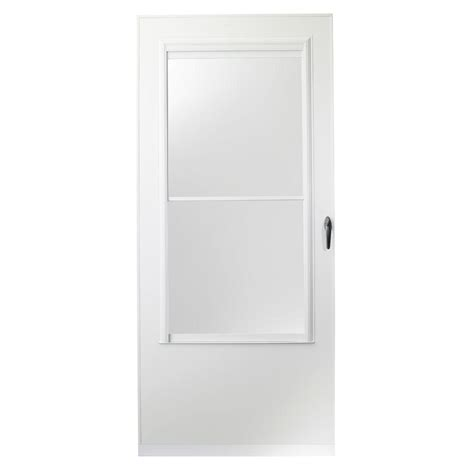 Emco Door by Emco 200 Series 32 In White Aluminum Self Storing