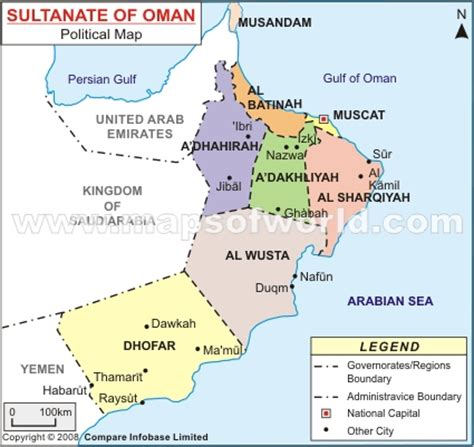 oman political map oman map and oman satellite images