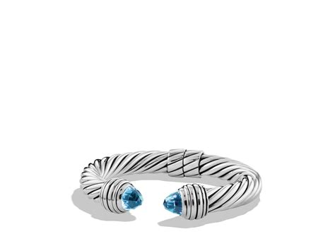 david yurman cable classics bracelet with blue topaz in