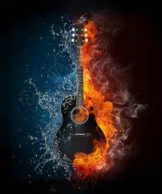 Home Plans Free Online 2160713 electric guitar on fire and water isolated on