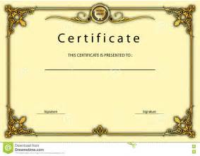 vintage certificate template vintage certificate award diploma template stock