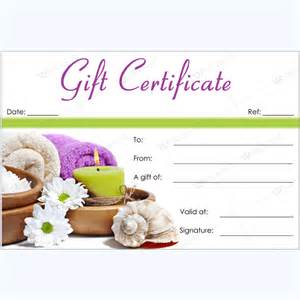 Spa Gift Certificate Template by 50 Plus Spa Gift Certificate Designs To Try This Season