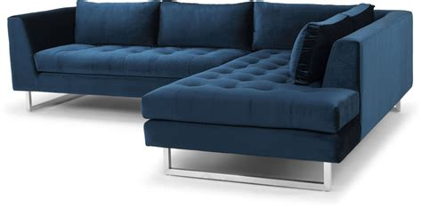 midnight blue sectional sofa janis midnight blue fabric raf sectional sofa from nuevo