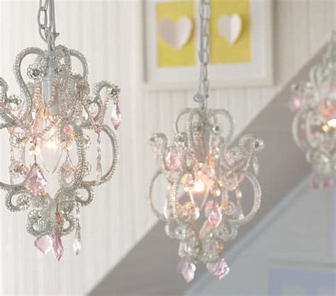 chandelier for little girl s bedroom gianna mini chandelier pottery barn kids