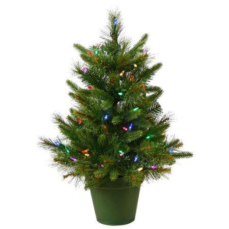 walmart decorative pine trees pine pre lit led tabletop tree walmart