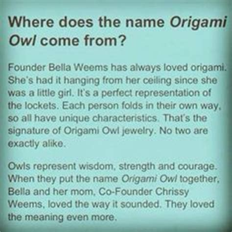 Origami Owl Team Names - origami owl ideas on