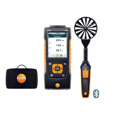 up in the air testo testo 440 air flow velocity iaq instrument 100 mm vane kit