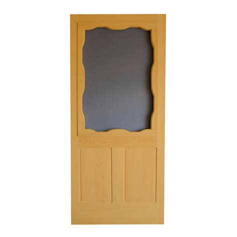 shop screen tight wood screen door at lowes