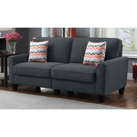 skyline furniture sofa 73 quot sofa in city skyline charcoal cr46294p