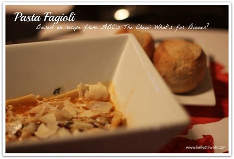 printable recipes from the chew pasta fagioli from abc s quot the chew what s for dinner