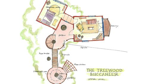 treehouse floor plans treewood buccaneer a bespoke handmade treehouse