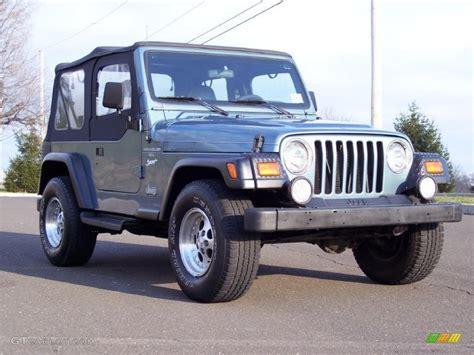 gunmetal blue jeep 1997 gunmetal pearl jeep wrangler sport 4x4 40962050