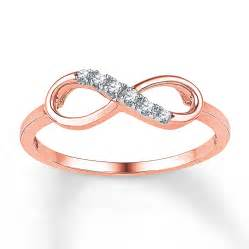 Infinity Rings Jared Infinity Ring 1 20 Ct Tw Cut 10k