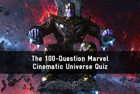 marvel film quiz questions and answers the 100 question marvel cinematic universe quiz trivia