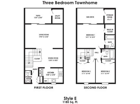 850 Sq Ft Floor Plan by 3 Bed 2 5 Bath Apartment In Clayton Nj Rustic Village