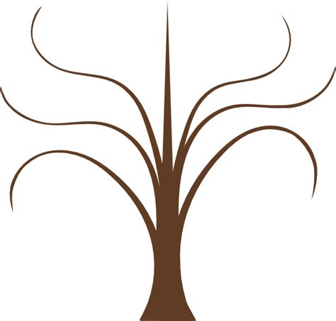 Tree Trunk With Branches Template by Picture Of A Tree With Branches Cliparts Co