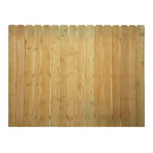 home depot fence panels cedar ear fence panel common 6 ft x 8 ft actual 0