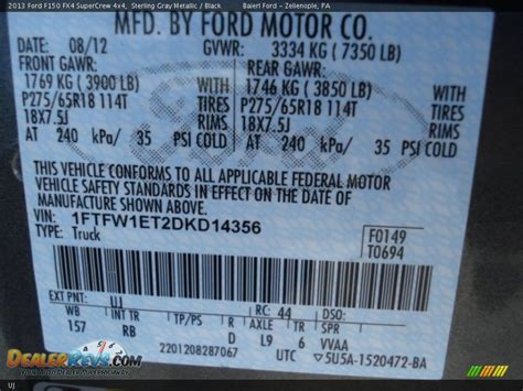 ford color code uj sterling gray metallic dealerrevs
