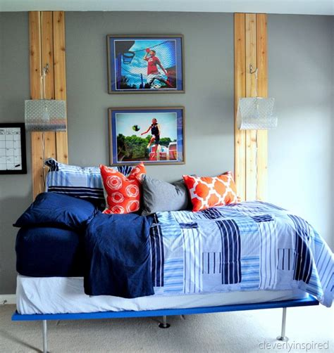 gray boys bedroom boys gray and orange bedroom reveal decorating boys room