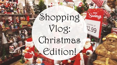 shopping vlog christmas decorations homegoods t j
