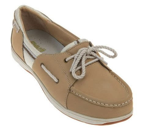 qvc ryka sandals ryka nubuck leather boat shoes with lace up detail