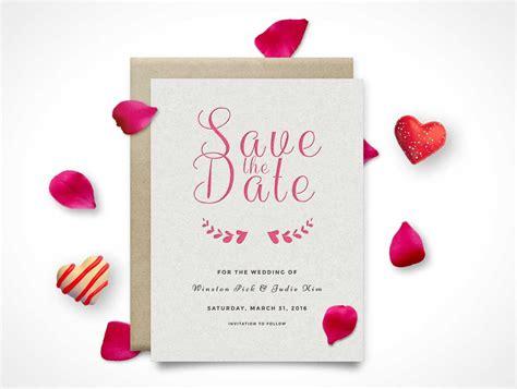 Wedding Invitation Mockup Psd by Invitation Rsvp Save The Date Card Psd Mockup Psd Mockups