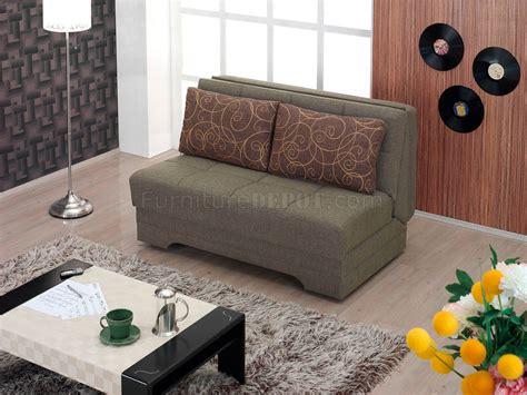 el paso loveseat bed convertible  brown fabric  empire
