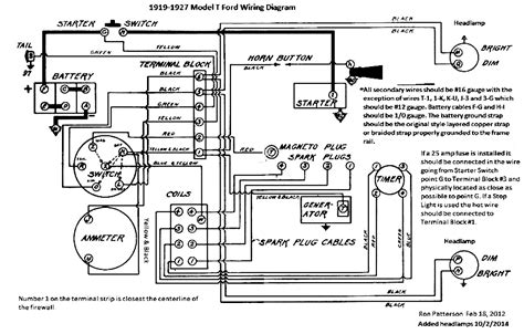 ford model t wiring diagram 12 volt negative ground