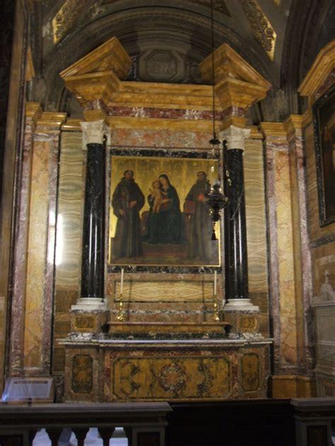 chiesa dei ladari a roma antoniazzo romano madonna fra san francesco e san antonio