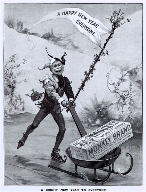yeo s new year ads 1899 ad s monkey brand soap happy new year