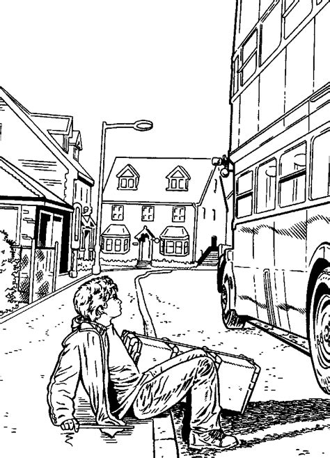 harry potter knight bus coloring pages kids n fun com 25 coloring pages of harry potter and the
