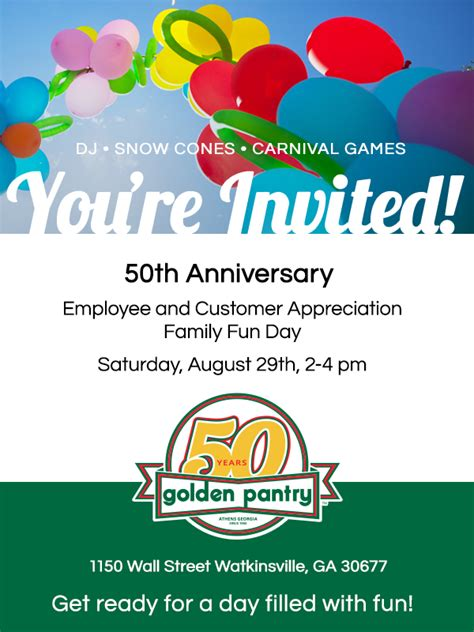Golden Pantry Watkinsville by Golden Pantry 50th Anniversary Celebration Registration
