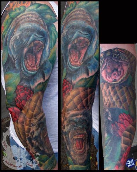 tattoo animal sleeve brians animal sleeve by jakubnadrowski on deviantart