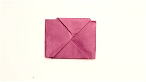 How To Fold A Of Paper Into An Envelope - how to fold paper into a secret note square 10 steps