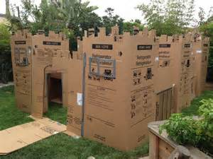 Cardboard fort i created for my sons 1st birthday party it was a full
