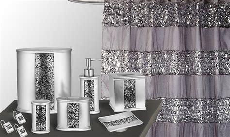 sinatra silver bathroom set 55 off on sinatra bath set groupon goods