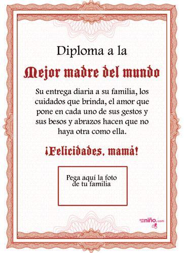diploma madres diploma a la mejor madre para imprimir especial d 237 a de