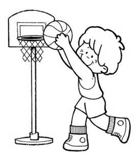 Kids Playing Basketball Coloring Pages Sketch Page sketch template