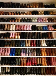 closet of boots heels and shoes pictures photos and