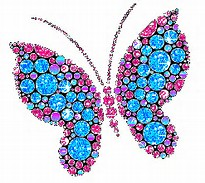 Butterfly Glitter Graphics