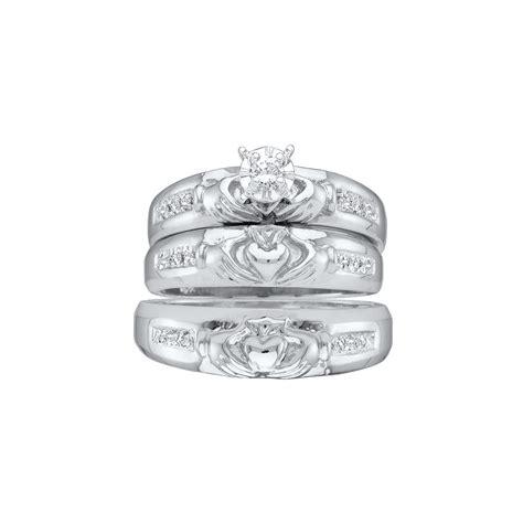 selina s round cubic zirconia wedding ring set