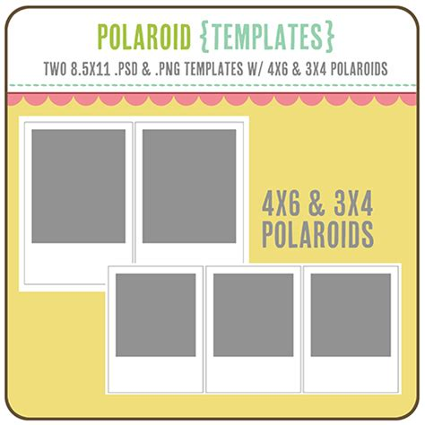 polaroid card template more printables one happy