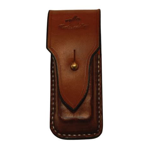 Leatherman Leather Pouch pouch for leatherman tool solid leather vertical with brass post kent saddlery