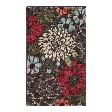 homes  gardens sorbet faux hook floral area rug