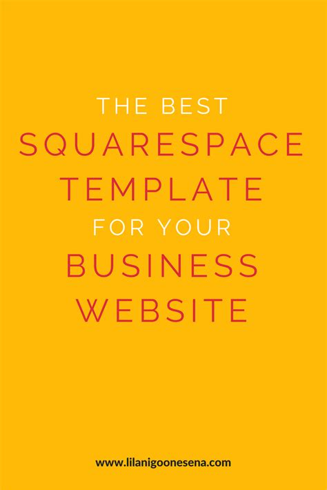Best Squarespace Template For Writers The Best Squarespace Template For Your Business Website